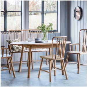 Gallery Direct Hudson Living Wycombe Round Extending Dining Table - Oak, Oak