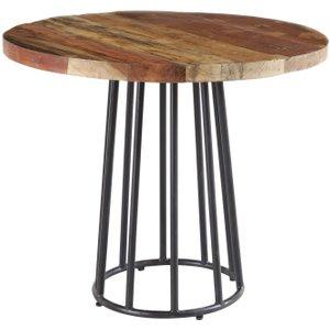 Indian Hub Coastal Reclaimed Wood Round Dining Table