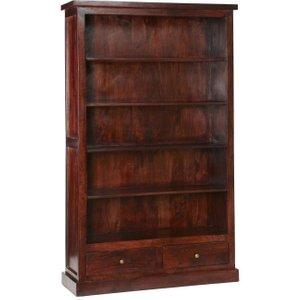 Indian Hub Jaipur Dark Mango Bookcase, Mahogany