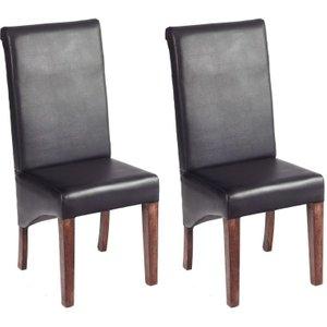 Indian Hub Toko Mango Leather Dining Chair (pair)