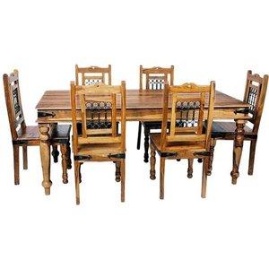 Jaipur Furniture Jaipur Jali Sheesham X Large Dining Table, Waxed