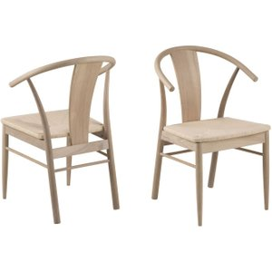 Moda Jamaica White Oil Oak Dining Chair (pair), White Oil