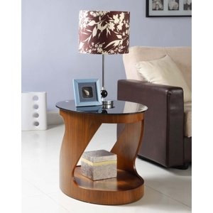 Jual Furnishings Jual Curve Walnut Lamp Table Jf304