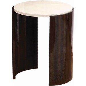 Jual Furnishings Jual Milan Walnut And Cream High Gloss Small Lamp Table Jf904