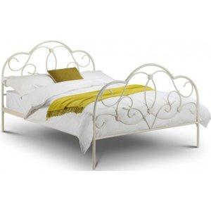 Julian Bowen Furniture Julian Bowen Arabella White Metal Bed, White