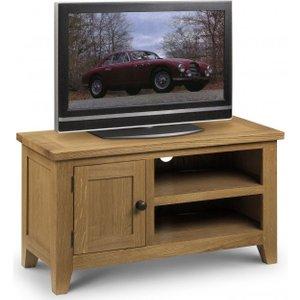 Julian Bowen Furniture Julian Bowen Astoria Oak Tv Unit, Waxed Oak