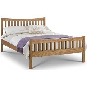 Julian Bowen Furniture Julian Bowen Bergamo Oak Bed, Low Sheen Lacquered