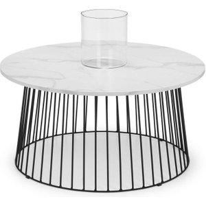 Julian Bowen Furniture Julian Bowen Broadway White Marble Effect Round Coffee Table