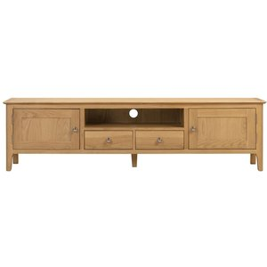 Julian Bowen Furniture Julian Bowen Cotswold Oak Tv Unit, Natural Satin Lacquer