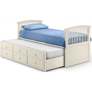 Julian Bowen Furniture Julian Bowen Hornblower Stone White Bed, Stone White