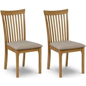 Julian Bowen Furniture Julian Bowen Ibsen Oak Dining Chair (pair), Light Oak Lacquered
