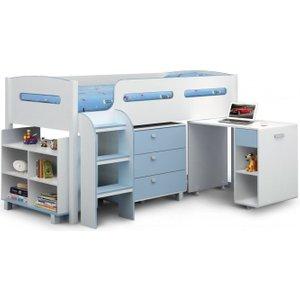 Julian Bowen Furniture Julian Bowen Kimbo Blue Cabin Bed, Blue