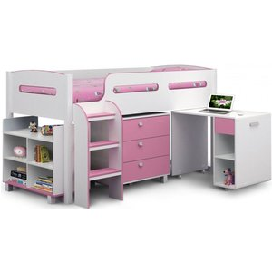 Julian Bowen Furniture Julian Bowen Kimbo Pink Cabin Bed, Pink
