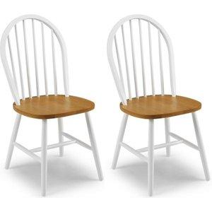 Julian Bowen Furniture Julian Bowen Oslo Oak Dining Chair (pair), White and Oak