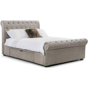 Julian Bowen Furniture Julian Bowen Ravello Mink Fabric Storage Bed, Mink
