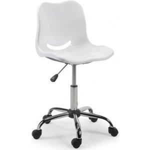 Julian Bowen Furniture Julian Bowen White Metal Swivel Chair, White