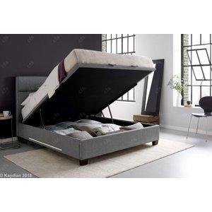Kaydian Chilton Ottoman Storage Bed - Artemis Light Grey Fabric, Artemis Light Grey