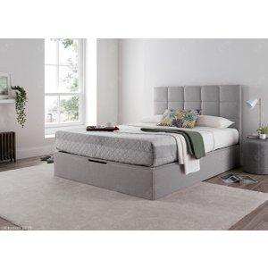 Kaydian Whitburn Ottoman Storage Bed - Silver Fabric, Spirit Silver