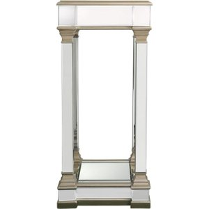 Deco Home Killona Champagne Mirrored Large Telephone Table, Champagne and Mirrored