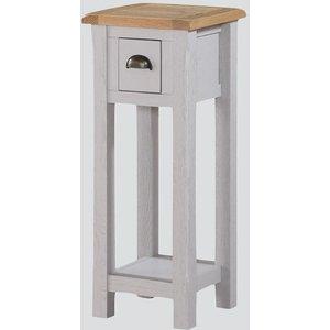 Annaghmore Kilmore Telephone Table - Oak And Grey Painted, Oak and Grey Painted