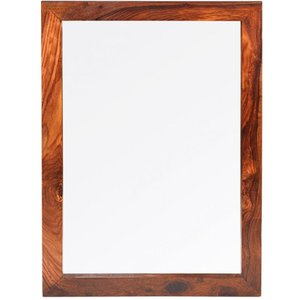 Hermitage Furniture Kuba Sheesham Rectangular Mirror - 75cm X 105cm, Honey Brown Waxed Lacquered