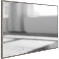 Signature By Scuttle Interiors Laguna Grey Oak Rectangular Wall Mirror, Light Grey