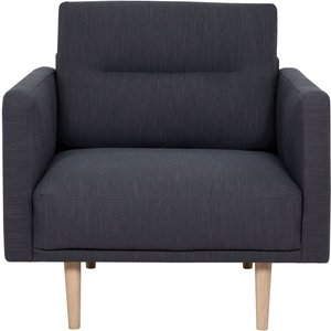 Furniture To Go Larvik Antracit Fabric Armchair With Oak Legs, Antracit