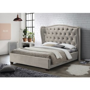 Furniture Now Lauren Champagne Fabric Bed, Champagne