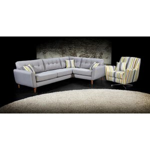 Lebus Upholstery Lebus Candy Retro Fabric Sofa Suite