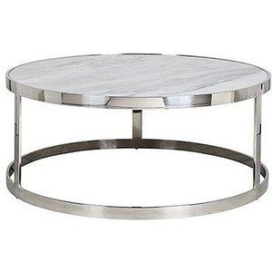 Richmond Interiors Levanto White Marble Top Round Coffee Table