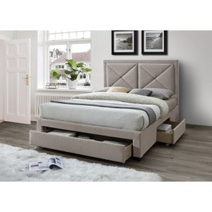 Limelight Beds Limelight Cezanne Mink Velvet 3 Drawer Storage Bed