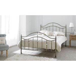 Limelight Beds Limelight Cygnus Antique Brass Metal Bed, Antique Brass