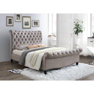 Limelight Beds Limelight Larrisa Mink Fabric Bed, Mink