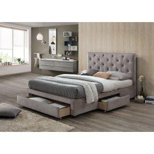 Limelight Beds Limelight Monet Mink Velvet 3 Drawer Storage Bed, Mink