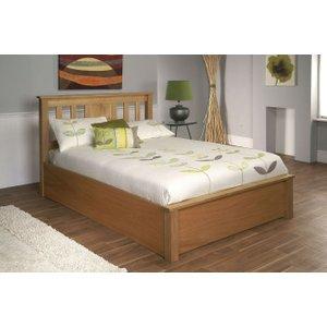 Limelight Beds Limelight Terran Oak Ottoman Bed, Oak