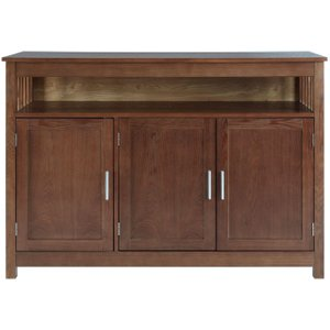 Premier Housewares Lincoln Walnut Sideboard