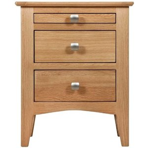 House Brands Lowell Natural Oak Bedside Cabinet, Natural Oak