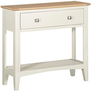 House Brands Lowell Oak And White Painted Console Table