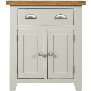 House Brands Lundy Oak And Grey Painted 2 Door 1 Drawer Sideboard