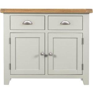 House Brands Lundy Grey 2 Door 2 Drawer Narrow Sideboard