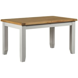House Brands Lundy Grey Rectangular Extending Dining Table - 140cm-180cm, Grey Painted