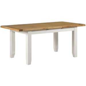 House Brands Lundy White Rectangular Extending Dining Table - 140cm-180cm, White Painted