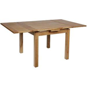 House Brands Lyon Oak Rectangular Extending Dining Table - 90cm-160cm, Wax