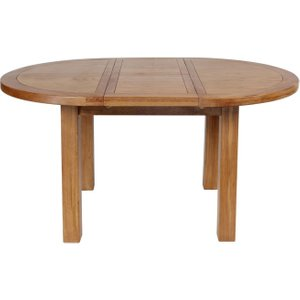House Brands Lyon Oak Round Dining Table - 110cm, Wax