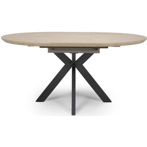 Furniture Now Manhattan Oak Round Extending Dining Table, Oak