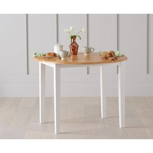Mark Harris Furniture Mark Harris Alaska Butterfly Extending Dining Table - Oak And White, Oak and White Painted