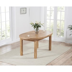 Mark Harris Furniture Mark Harris Cheyenne Oak Oval Extending Dining Table, Oak with Clear Lacquer