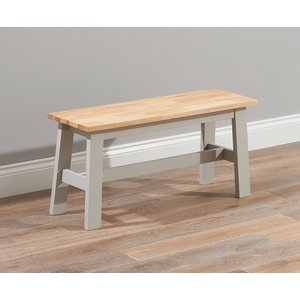 Mark Harris Furniture Mark Harris Chichester Oak And Grey Dining Bench, Oak and Grey