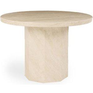 Mark Harris Furniture Mark Harris Coruna Cream Marble Round Dining Table, Cream
