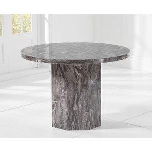 Mark Harris Furniture Mark Harris Coruna Grey Marble Round Dining Table, Grey